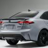 丰田特别版卡罗拉车型前脸换装了熏黑镂空进气中网